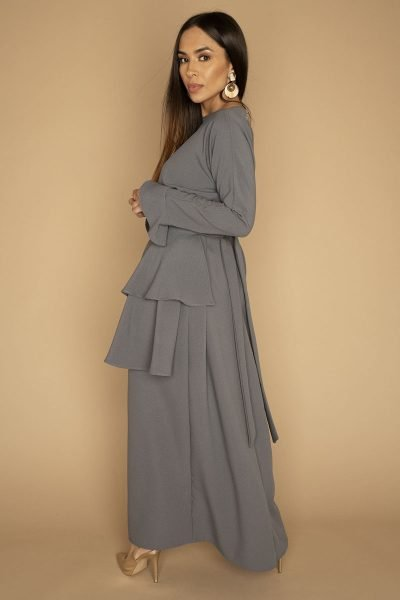 Layered Apron & Dress | Charcoal