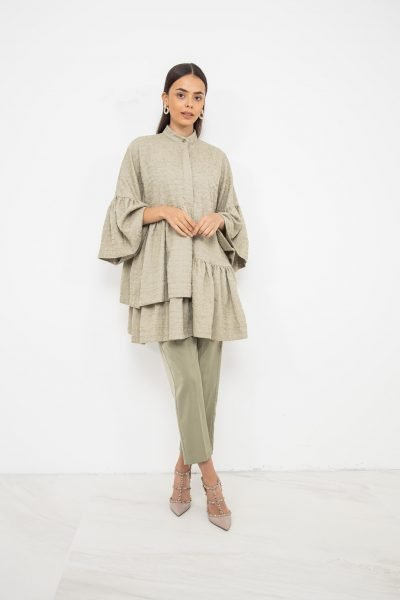 Oversized Dress & Trouser Coord   Pistachio