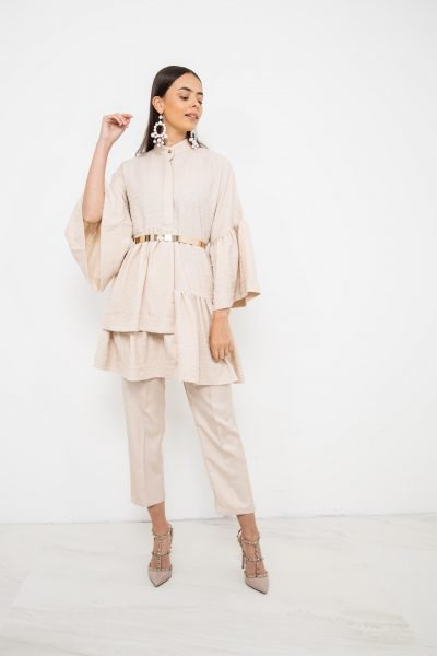 Oversized Dress & Trouser Coord | Stone